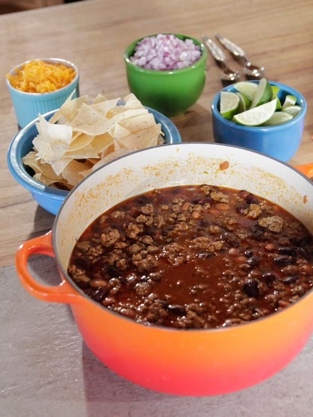 Simple chili from the Pioneer Woman... On her show she made it without the beans and masa, then froze it in a bag.  To serve, she put it in a pan with a little water, then added the other ingredients.  Looked yummy and quick.
