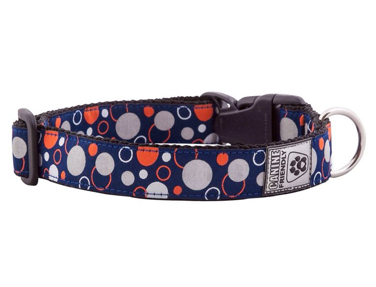 Canine Friendly Reflective Collar: Comes in different patterns, 3M reflective visible up to 500' away, x-small to large, made in Vancouver, BC