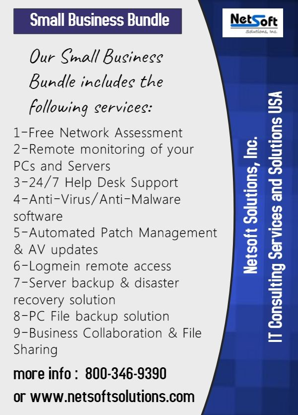 Find The Best Small Business Bundle Services With Reasonable Price In New York Netsoft Solutions Prov Patch Management Small Business Small Business Services