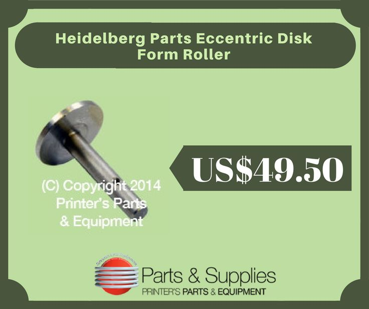Printers Parts & Equipment Parts and Supplies store also known as Shop.Printers Parts collects wide range of Heidelberg Parts Eccentric Disk at our web store. You can get Heidelberg Parts Eccentric Disk in our web store at an affordable price rate. For more information kindly call us @ (416) 752-4488 / 1-800-268-6577 OR mail us @ parts@printersparts.com or visit us :- https://shop.printersparts.com/shop/machine-parts/heidelberg-spare-parts/heidelberg-parts-eccentric-disk-form-roller