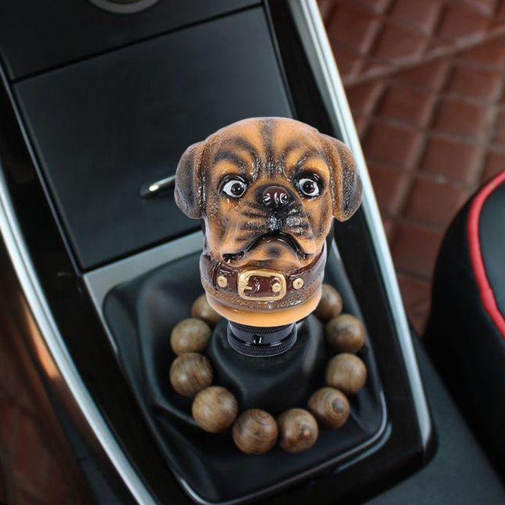 Новый Симпатичная Собака Форма Головы Автомобилей МТ Переключения Передач Shifter Ручка Ручка (желтый)