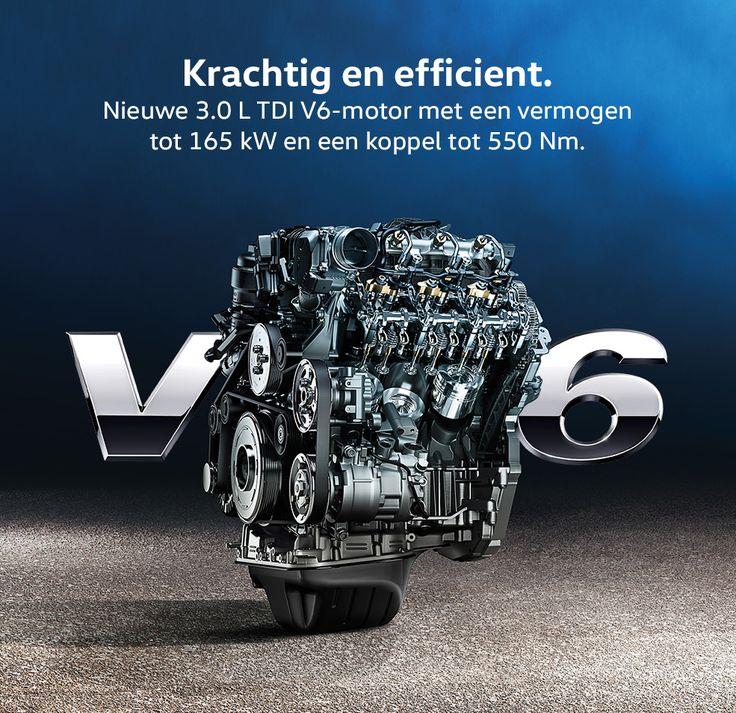 Amarok 3.0 L TDI V6-motoren: efficiënte kracht