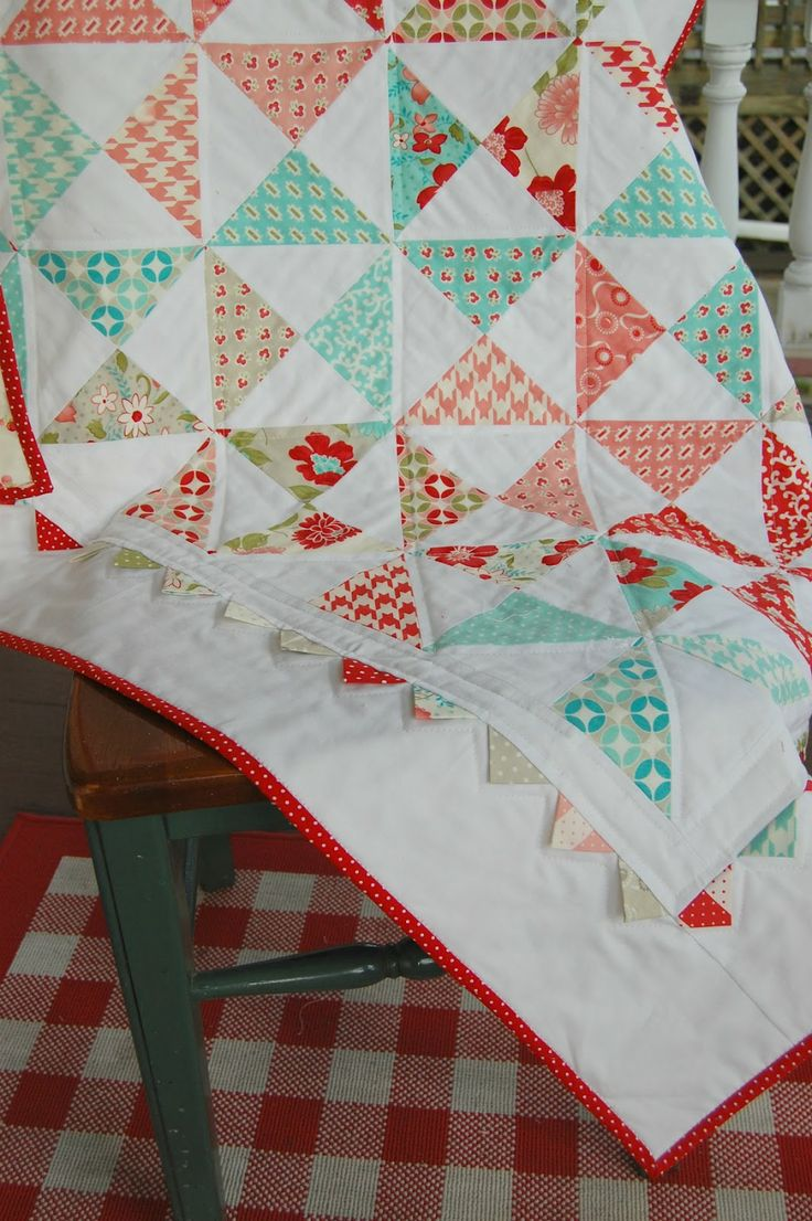 beautiful quilt - so bright and happy!  i will need to get some of this fabric!  (bonnie & camille - vintage modern)