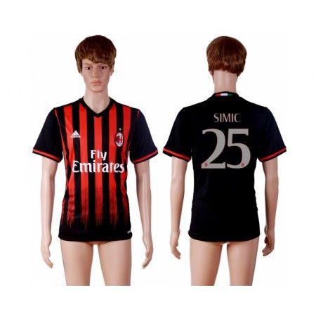 AC Milan 16-17 #Simic 25 Hemmatröja Kortärmad,259,28KR,shirtshopservice@gmail.com