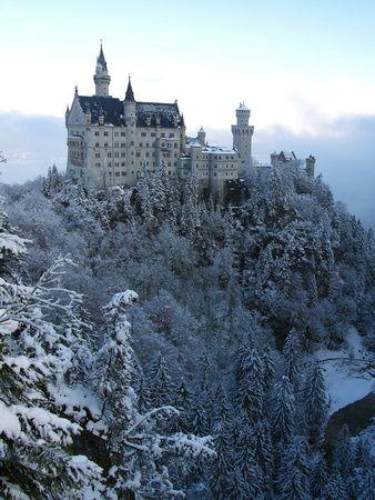 Neuschwanstein Castle in Winter, Schwangau, Allgäu, Bavaria, Germany, Europe