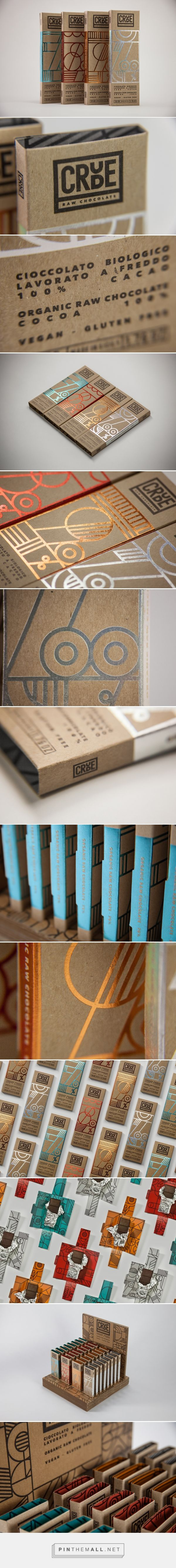 Crude - Raw Chocolate packaging design by Happycentro - http://www.packagingoftheworld.com/2016/12/crude-raw-chocolate.html