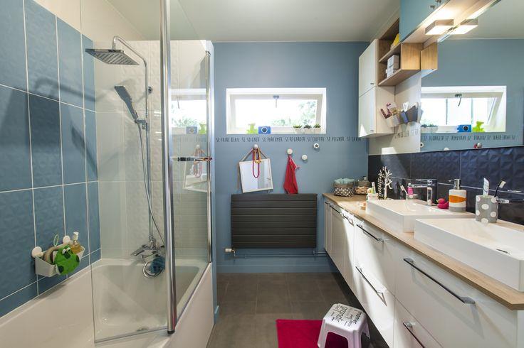 meuble salle de bain bleu baltique
