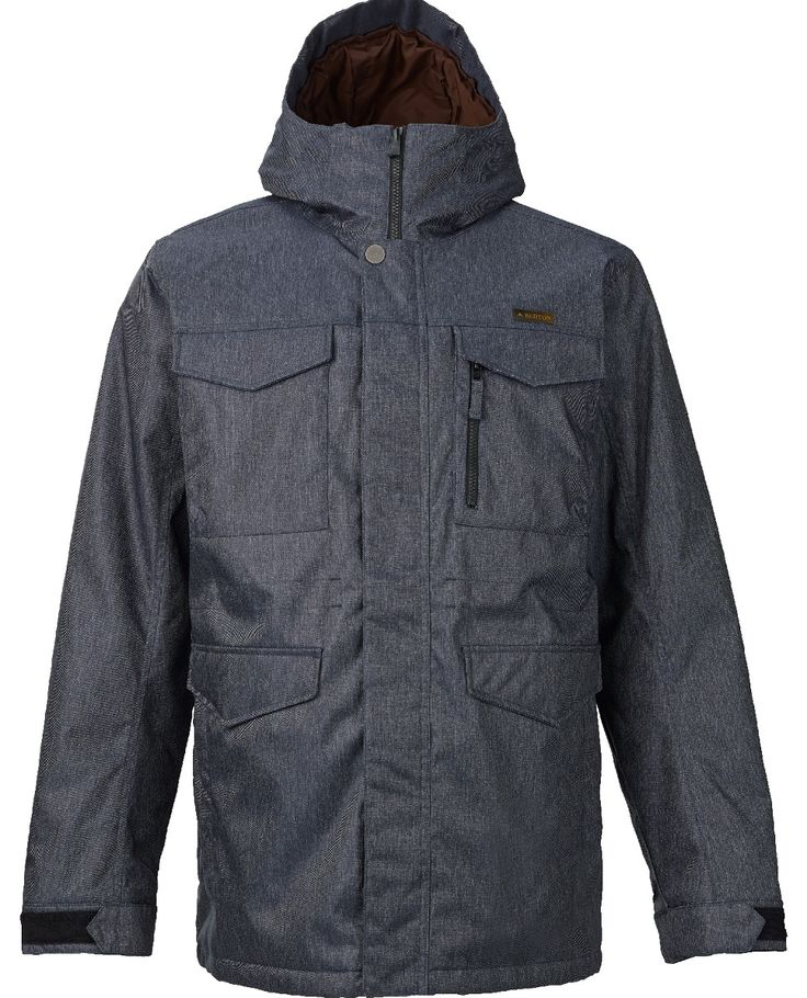Burton Men's Covert Snowboard Jacket in Denim