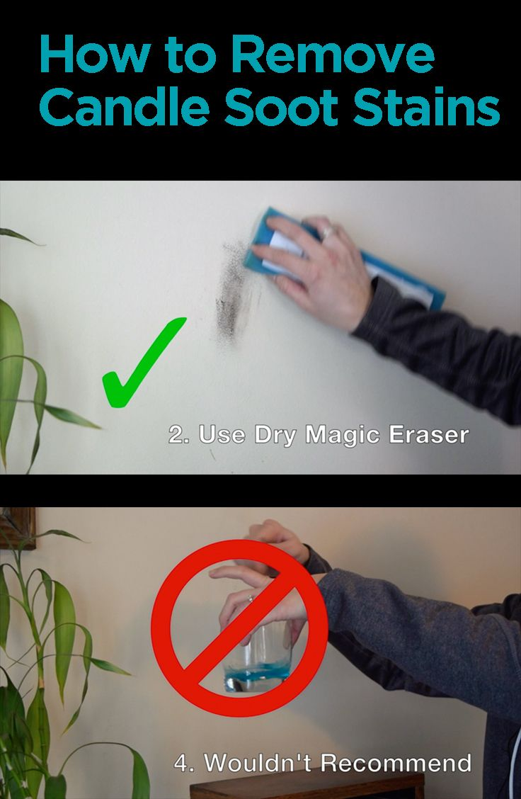 Watch 26 different methods for cleaning candle soot off your wall