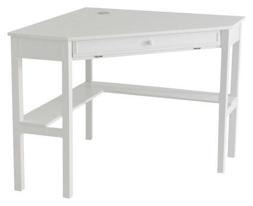 SEI - Corsica Corner Computer Desk - White