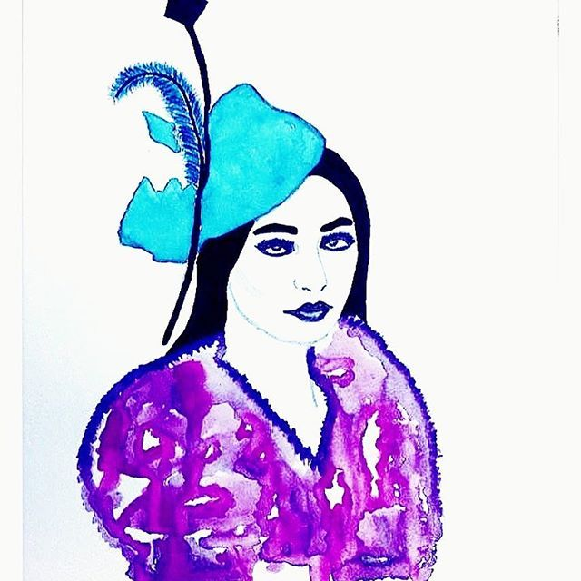 I never did come up with a suitable name for this Dame....thoughts?  #sketch #drawing #painting #art #artist #watercolourpainting #watercolorartist #watercolour #watercolourillustration #illustration #perthart #perthartist #perthillustrator #ladyillustration #girlillustration #ingenue #fashionillustration #fashionillustrationsketch #winsorandnewtonwatercolours #winsorandnewtonpigmentmarkers