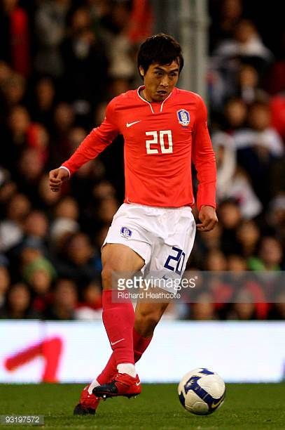Lee Dong Gook of South Korea during the International Friendly match between South Korea and Serbia at Craven Cottage on November 18 2009 in London...