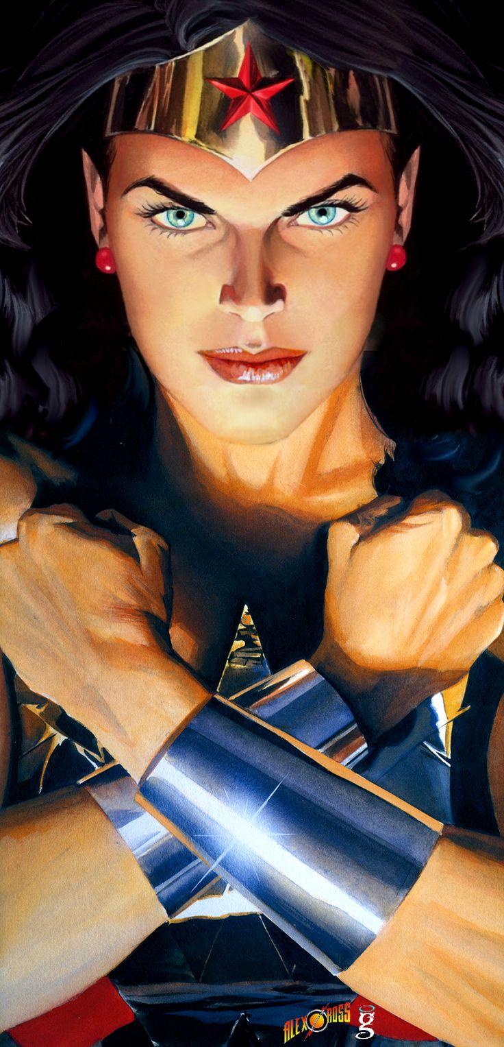 Wonder Woman by Alex Ross (arranged by me) by godstaff.deviantart.com on @deviantART