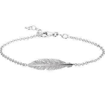 Lovely Silver bracelet with feather, for € 19,95. - Goldberg Juweliers http://www.goldbergjuweliers.nl/en/silver-bracelet-with-feather.html