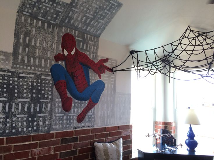 Spider-man boys room SO COOL