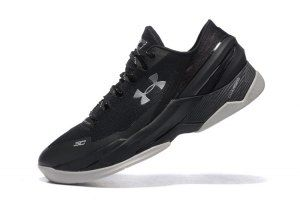 714c65cd42a Mens Under Armour UA Curry Two 2 Low Black Stealth Gray Basketball Shoes