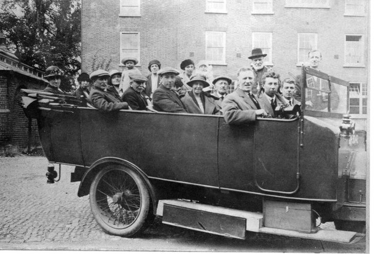 Trip from Walsall Wood probably around 1925.