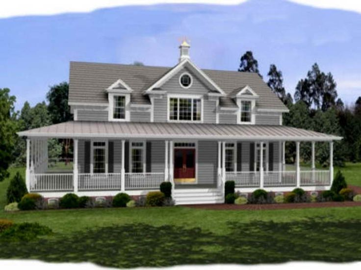 Wrap around front porch ideas next story farmhouse floor for Simple farmhouse designs