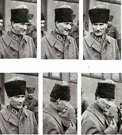 İnsanın içini ısıtan bir gülüşü var Atatürk'ümün.