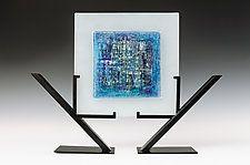 "Laguna Azul by Alicia Kelemen (Art Glass Sculpture) (16"" x 20.5"")"