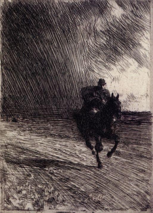 Storm | Anders Zorn - 1891
