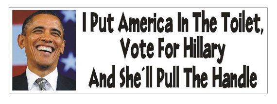 Anti Hillary Clinton Bumper Sticker...