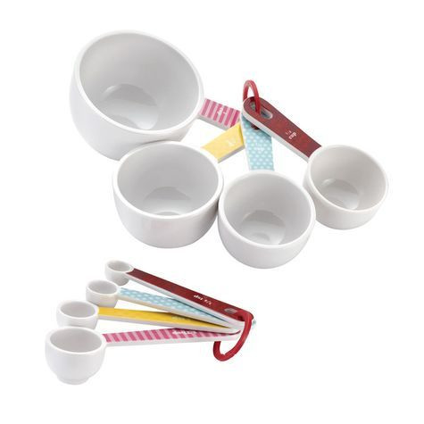cute but only online - Cake Boss 8 Piece Melamine Measuring Cups and Spoons Set: Shopko