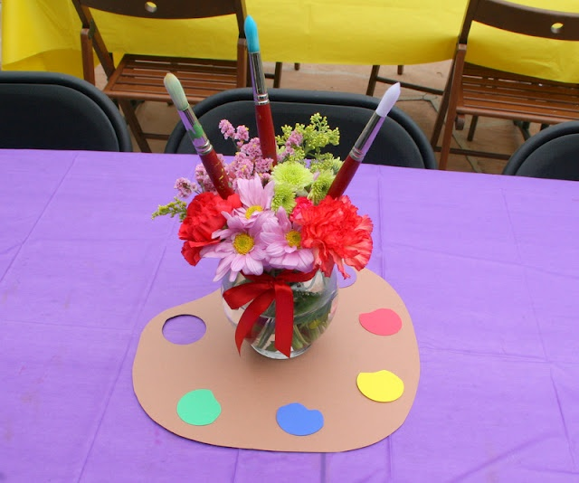 Party Decorations Table Centerpieces: 1000+ Images About Art Themed Centerpieces On Pinterest