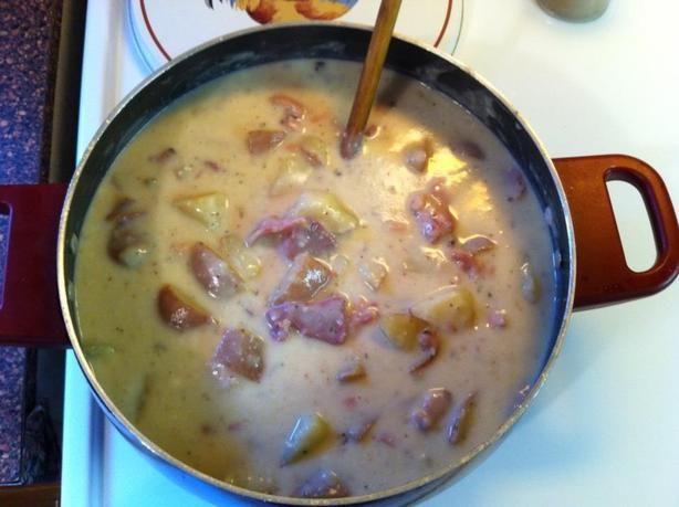 Using The Christmas Ham Bone, Makes You Feel Good Potato Soup Recipe - Food.com - 405925