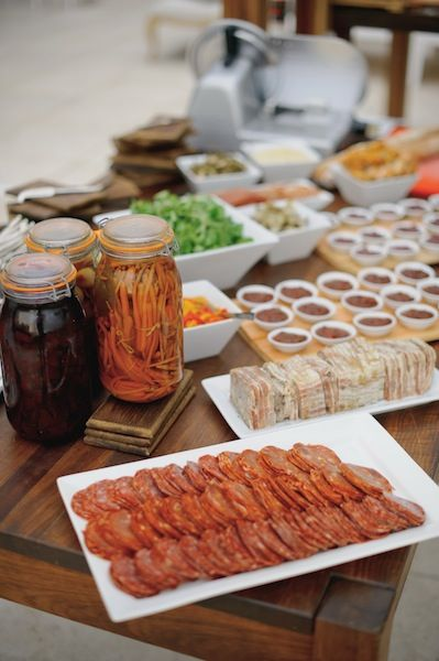 Cheeses, meats, pickled veg and so much more. Best charcuterie stations