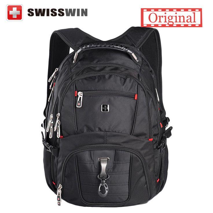 Swissgear Laptop Backpack Men's Travel Backpack Waterproof Nylon School Bags for Teenagers SW8112 Male Bag