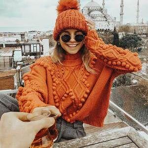 Boho Turtleneck Sweater