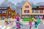 Educational illustration for kids at school