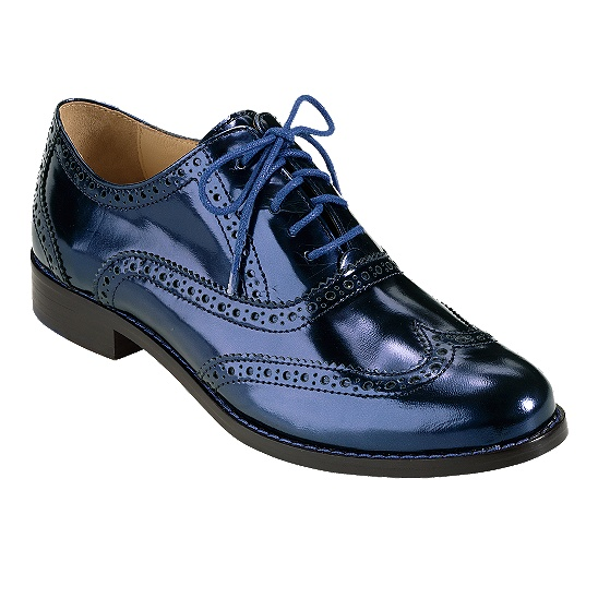 Cole Haan Skylar Oxford in blazer blue mirrored metallic