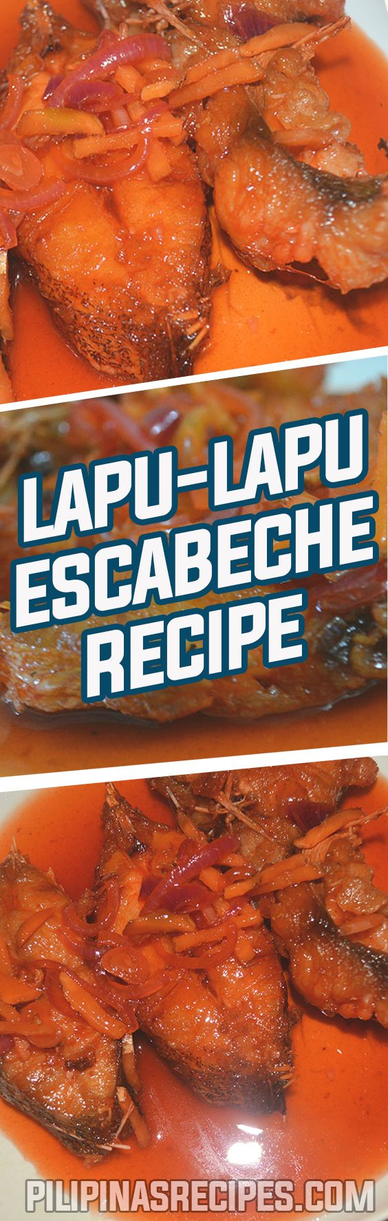 For the best Fish Escabeche Recipe, the common kinds of fish to use are Lapu-Lapu or red snapper because they are flaky and tender.