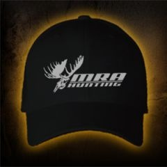 MRA Hunting Ball Cap    Shawn Michaels' MacMillan River Adventures Signature Ball Cap as worn by hosts Shawn Michaels and Keith Mark. Black with white MRA Hunting Logo. One Size Fits Most