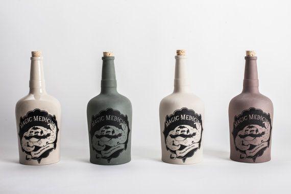 Bottle for tough guys by Drzmiskova on Etsy