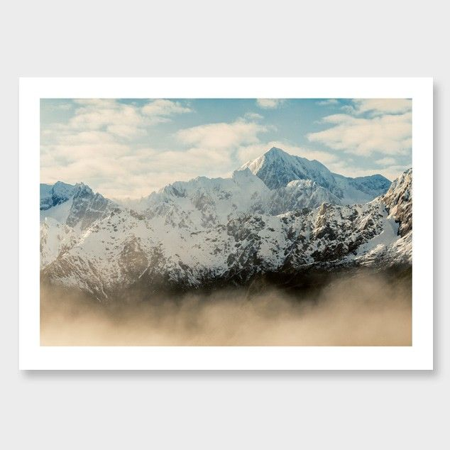 Misty Mt Cook Photographic Print by Mike Mackinven Click here: http://www.endemicworld.com/misty-mt-cook-photographic-print-by-mike-mackinven.html