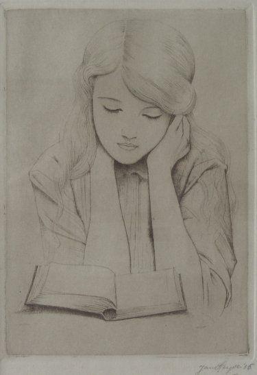 """""""Lezend meisje (Girl Reading)"""", 1915 / Jan Heyse (1882-1954)"""