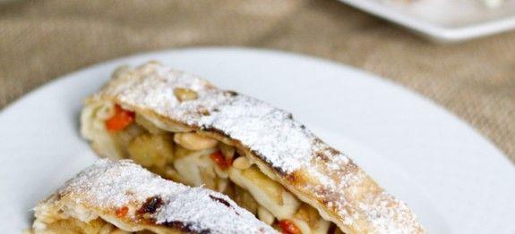 Ricetta Strudel di mele e goji - le ricette di lacucinavegetariana.it