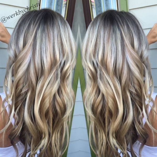 Highlights and lowlights, platinum blonde. Honey blonde. Balayage. Beach waves. Perfect hair. Hairstyles by suzette