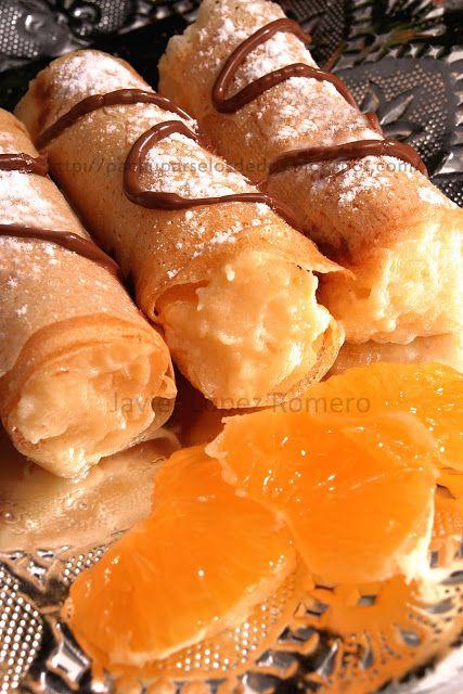 ¡¡Oído cocina!!: Rollitos de brick con crema de mandarina y un poquitín de chocolate