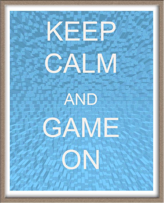 KEEP CALM and GAME on  Typography print  word by KimberlysCanvas