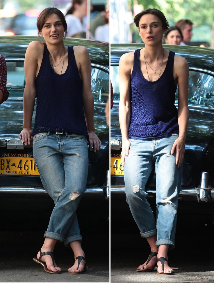 Keira & Keira (on the set of Can A Song Save Your Life? in NYC, July 26th, 2012)