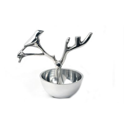 Personalised BIRD TREE Dish -  Aluminium