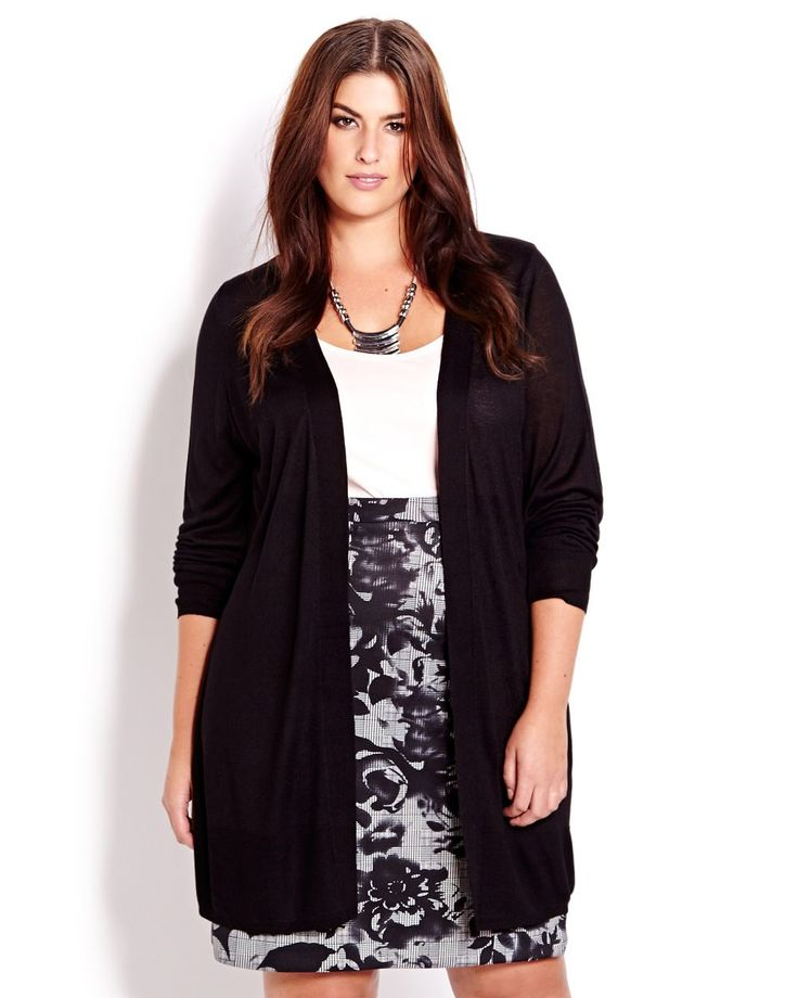 Michel Studio Long Sleeve Open Cardigan