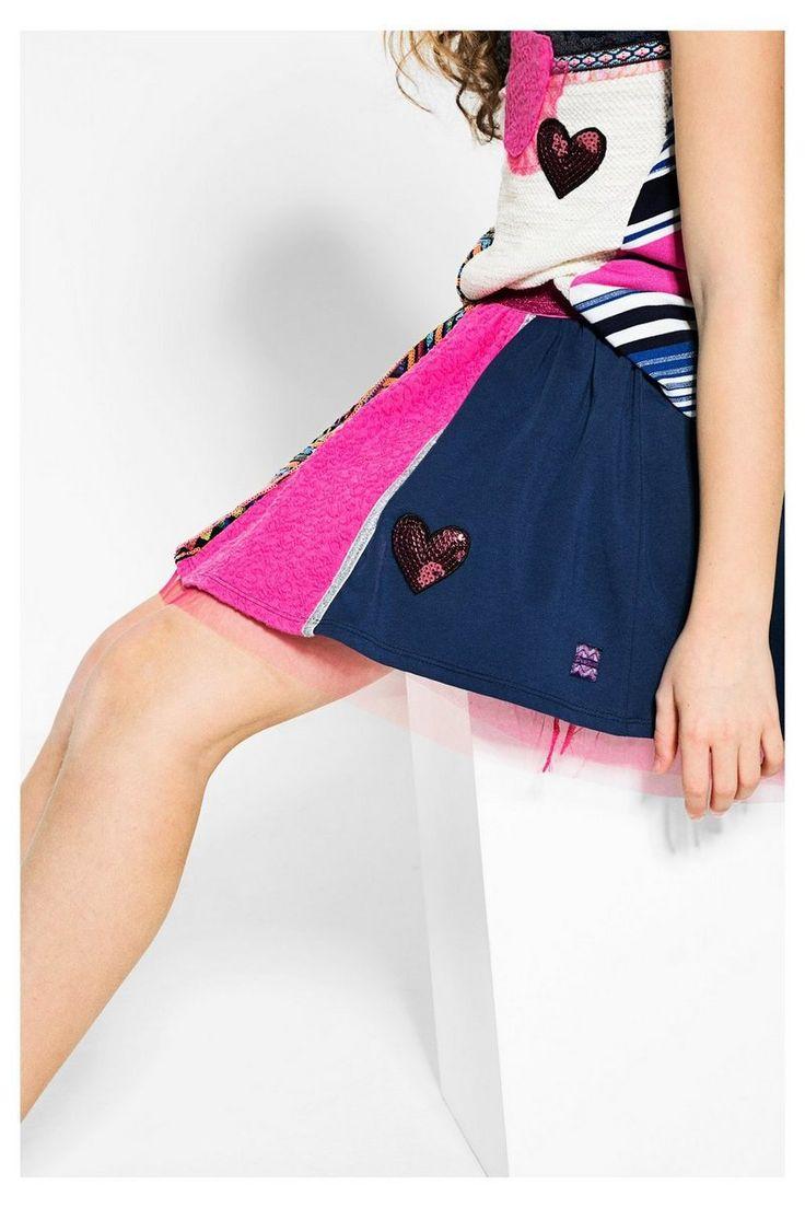 Falda Desigual rosa elástica Tona #circulogpr #desigual #fashion #modainfantil