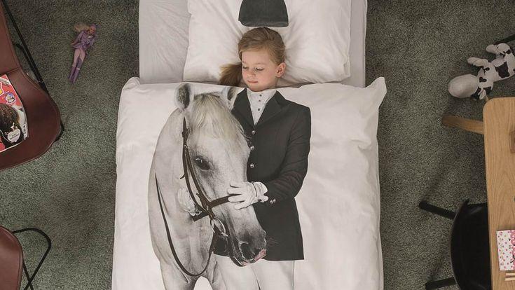 Voor alle paarden fans dit Snurk Amazone Flanel dekbedovertrek