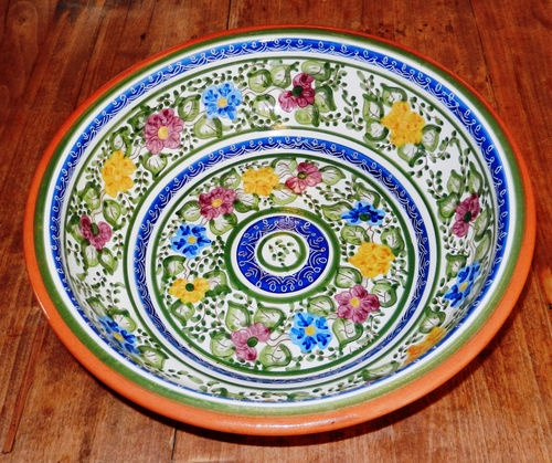 large ceramic bowl Portuguese fairy garden cove it