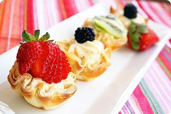 Fresh Fruit Phyllo Tartlettes by comfortofcooking #Fruit ...